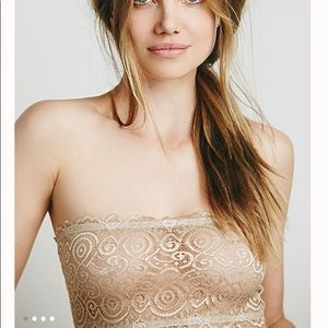 Free People Intimately Lace Bandeau Bra M/L NWT